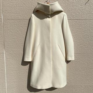 新品 ELIN エリン コート フード オフホワイト 38(ロングコート)