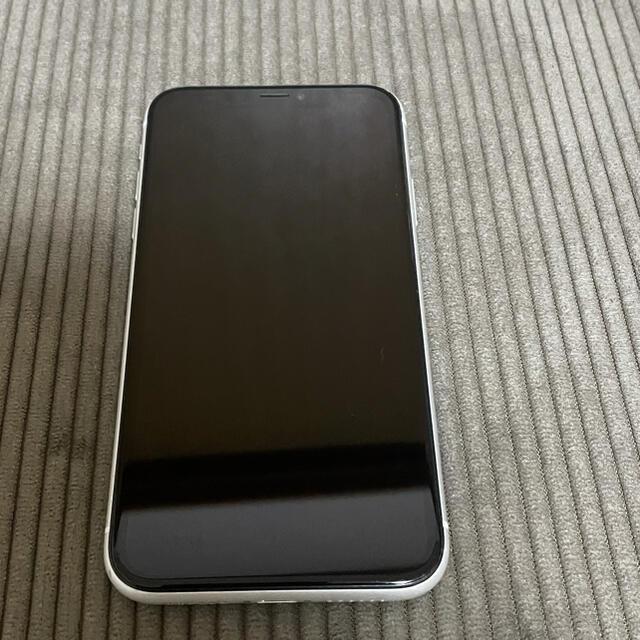 Apple(アップル)のiPhone XR ホワイト White 64GB docomo スマホ/家電/カメラのスマートフォン/携帯電話(スマートフォン本体)の商品写真