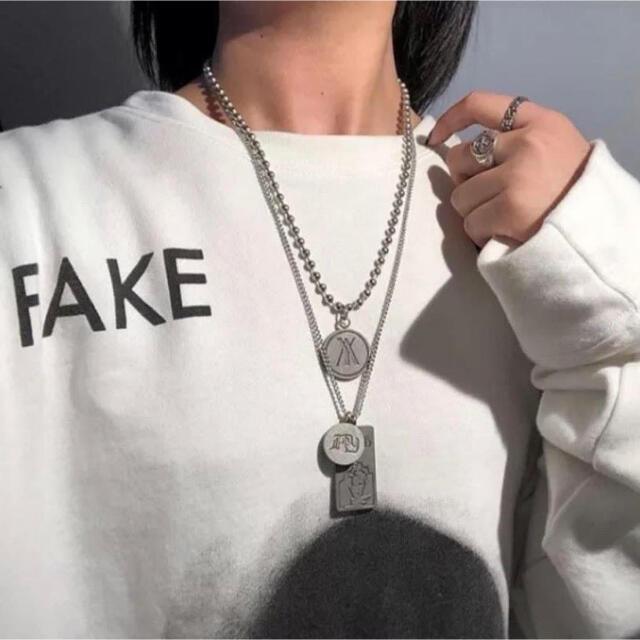 ペンダント ネックレス オルチャン 韓国 ファッション ストリート メンズのアクセサリー(ネックレス)の商品写真