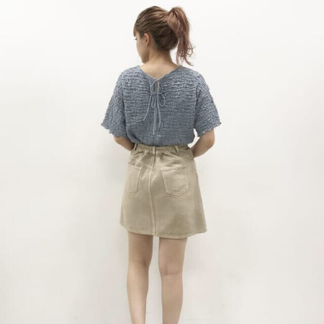 one after another NICE CLAUP(ワンアフターアナザーナイスクラップ)の新品 one after another NICE CLAUP しぼしぼTee レディースのトップス(カットソー(半袖/袖なし))の商品写真