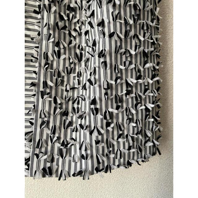 GRACE CONTINENTAL(グレースコンチネンタル)の週末限定お値下げ★ 美品グレースコンチネンタル ボーダーカットジャガードスカート レディースのスカート(ひざ丈スカート)の商品写真