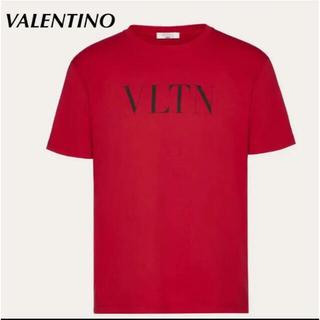 ヴァレンティノ(VALENTINO)の【新品】VALENTINO ヴァレンティノ VLTNロゴTee レッド XS(Tシャツ/カットソー(半袖/袖なし))