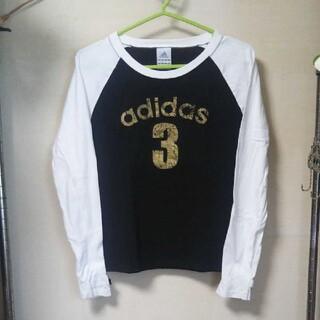 アディダス(adidas)のadidas アディダス 長袖ロゴTシャツ ラグランスリーブ ブラック Mサイズ(Tシャツ(長袖/七分))