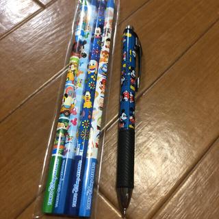 ディズニー(Disney)のディズニーランドで購入 ミッキーの水性ペンと鉛筆4本セット(ペン/マーカー)