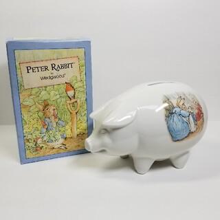 ウェッジウッド(WEDGWOOD)のウェッジウッド ピーターラビット 貯金箱 PIGGY BANK(置物)