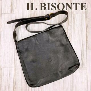 イルビゾンテ(IL BISONTE)のイルビゾンテ IL BISONTE ショルダーバッグ レザー ダークブラウン(ショルダーバッグ)