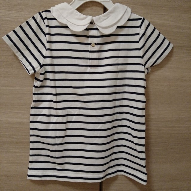 Jacadi(ジャカディ)のJacadi ジャカディ 2枚襟マリンボーダー半袖Tシャツ キッズ/ベビー/マタニティのキッズ服女の子用(90cm~)(Tシャツ/カットソー)の商品写真
