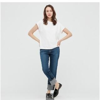 UNIQLO - ユニクロ UNIQLO スムースコットンフレンチスリーブT ホワイト Tシャツ