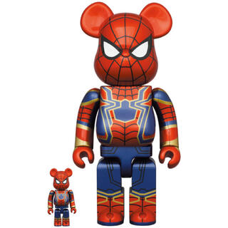 MEDICOM TOY - BE@RBRICK IRON SPIDER 100% 400% 新品未使用