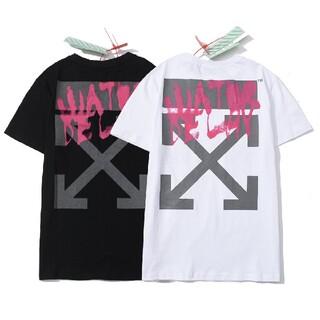 OFF-WHITE - 人気OFF-WHITE Tシャツ 男女兼用