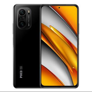 アンドロイド(ANDROID)の最新型 新品 未開封 POCO F3 ブラック with5G global版 ♪(スマートフォン本体)