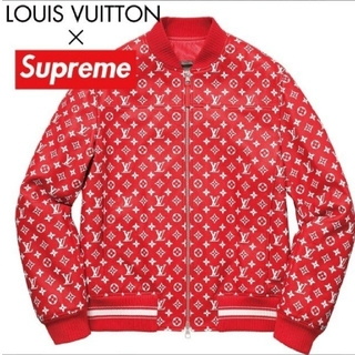 LOUIS VUITTON - 極美品 LOUIS VUITTON×Supreme レザージャケット サイズ46