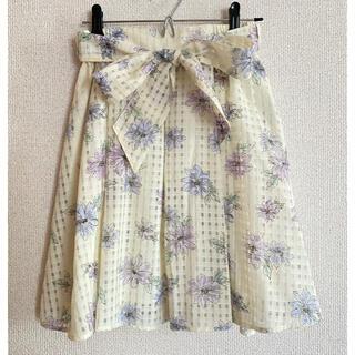 オリーブデオリーブ(OLIVEdesOLIVE)の花柄スカート(ひざ丈スカート)
