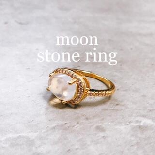 【再販】moon stone ring(リング(指輪))