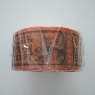 【新品】トラベラーズファクトリー マスキングテープ トレインチケット柄(テープ/マスキングテープ)