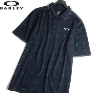 オークリー(Oakley)のオークリー 新品 春夏 ゴルフ 吸汗速乾 ストレッチ 半袖 ポロシャツ 黒 L(ウエア)