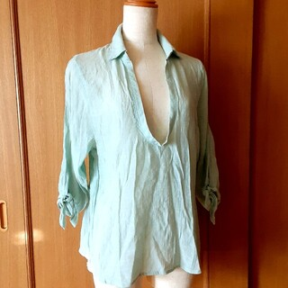 グローブ(grove)のgrove 5部袖プルオーバーシャツ(カットソー(長袖/七分))