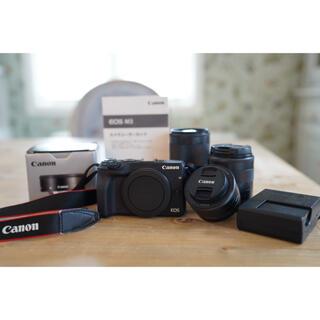 キヤノン(Canon)のキャノンM3ダブルズームレンズキット パンケーキレンズ ミラーレス一眼Canon(ミラーレス一眼)