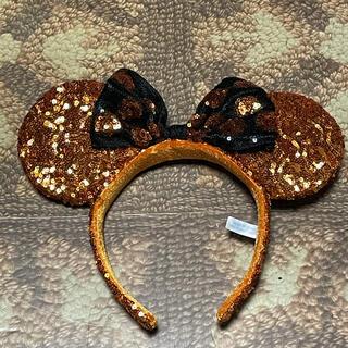 Disney - 美品 ディズニー ハロウィン スパンコール カチューシャ オレンジ