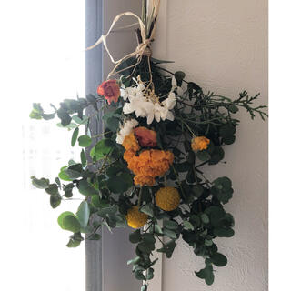 ユーカリと初夏のお花スワッグ ドライフラワー♪