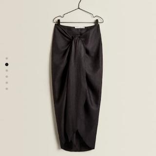 ザラホーム(ZARA HOME)のZARA リネン ラップスカート 新品未使用 タグ付き(その他)