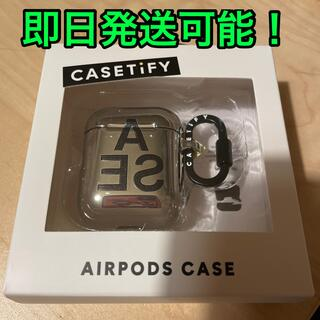 iPhone - casetify wind and sea  airpods case シルバー
