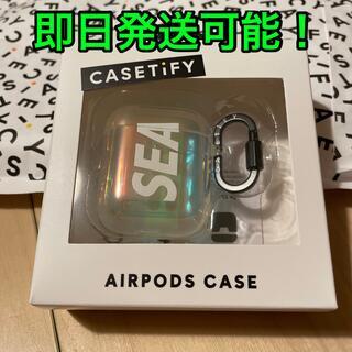アイフォーン(iPhone)のcasetify wind and sea  airpods case (その他)