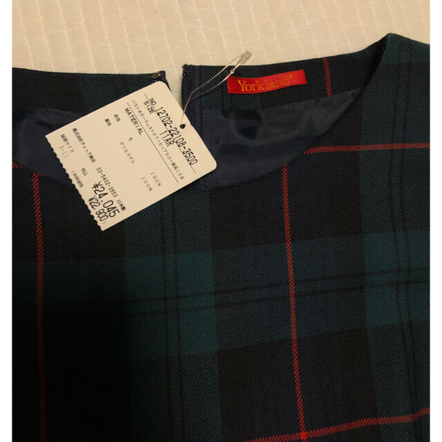 Yorkland(ヨークランド)の新品未使用⭐︎ ヨークランド ワンピース チェック レディースのワンピース(ひざ丈ワンピース)の商品写真