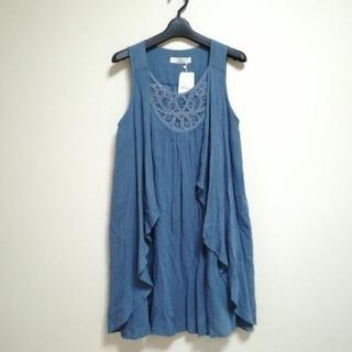 イッカ(ikka)のikka イッカ チュニック 青 ブルー(カットソー(半袖/袖なし))