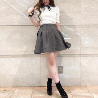 アンクルージュ(Ank Rouge)のアンクルージュ フレア リボン スカート(ひざ丈スカート)