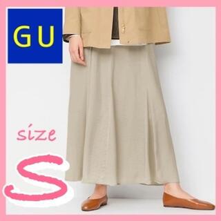 ジーユー(GU)の【人気商品】フェミニンにもカジュアルにも♪GUサテンマーメイドフレアスカートS(ロングスカート)
