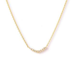 agete - agete K18 ダイヤモンド ネックレス