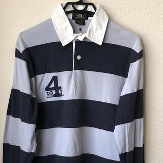 ダブルアールエル(RRL)のRRL ダブルアールエル ボーダーラガーシャツ Sサイズ(ポロシャツ)