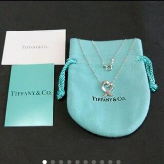 Tiffany & Co. - 美品*ティファニー ラビングハートネックレス*保存袋と購入カード付き