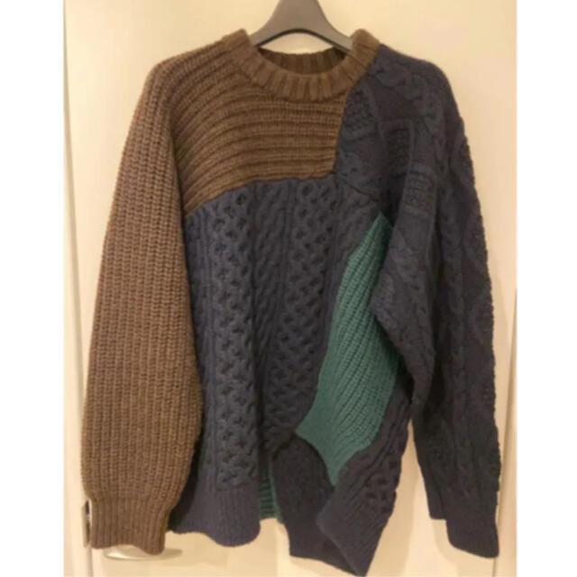 kolor(カラー)のkolor カラー クレイジーパターンニット メンズのトップス(ニット/セーター)の商品写真