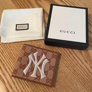 Gucci - 【新品】GUCCI グッチ GGキャンバス NYヤンキース 二つ折りウォレット