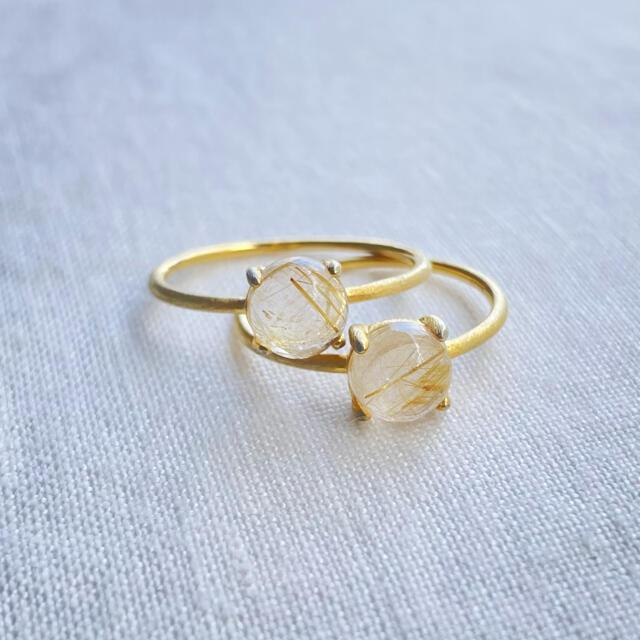 クラッククリスタル 天然石リング オジュール ete agete レディースのアクセサリー(リング(指輪))の商品写真