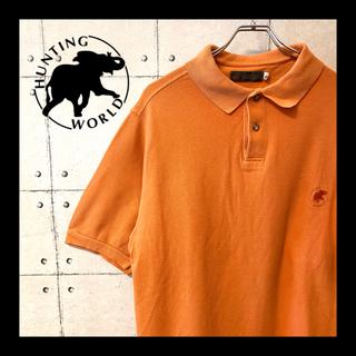 HUNTING WORLD - ITALY製 ★ HUNTING WORLD 刺繍 ロゴ 半袖  ポロシャツ