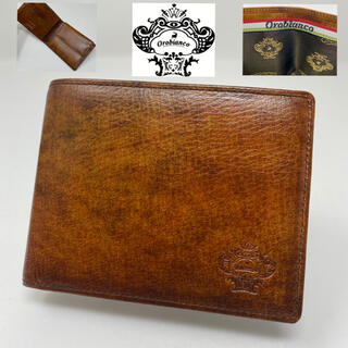 オロビアンコ(Orobianco)の未使用☺︎Orobianco オロビアンコ PATINA 二つ折り財布 ブラウン(折り財布)