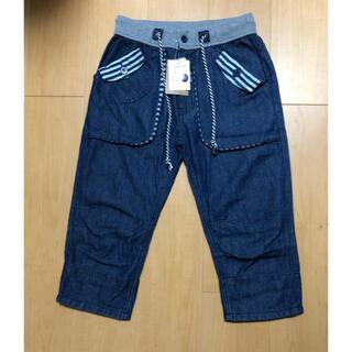 アベイル(Avail)の膝下パンツ M  デニム風紺色(ショートパンツ)
