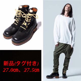 glamb - 新品/グラム glamb/グランジ系 レザーブーツ/黒/27㎝ 27.5㎝/③