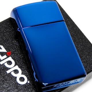 ジッポー(ZIPPO)の(送料込み)ZIPPO◇PVD・サファイアブルー◇新品◇スリムジッポ(タバコグッズ)