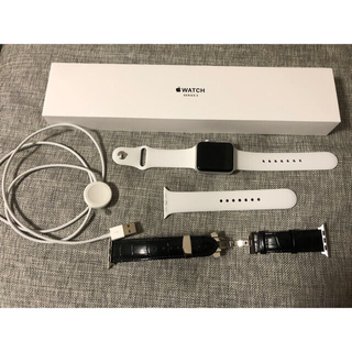 Apple Watch - 最終値下げ Apple Watch 3 42mm silver aluminum