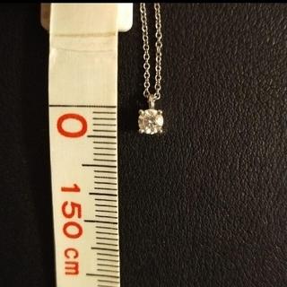 Tiffany & Co. - 【5/9まで最終お値下げ】ティファニー プラチナ 一粒ダイヤモンドネックレス