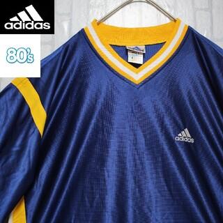 adidas - 激レア 80s アディダス ゲームシャツ 刺繍 万国旗 2XLサイズ