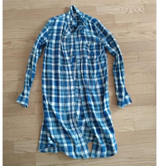 moussy(マウジー)のマウジー MOUSSYチェックロングシャツ レディースのトップス(シャツ/ブラウス(長袖/七分))の商品写真