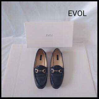 イーボル(EVOL)のイーボル ビットローファー 晴雨兼用 23センチ ブラック レディース(ローファー/革靴)