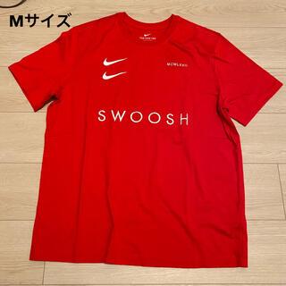 ナイキ(NIKE)の【新品】NIKE ナイキ 半袖 Tシャツ レッド SWOOSH M(Tシャツ/カットソー(半袖/袖なし))