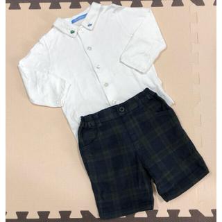 familiar - ファミリア ブラウス パンツ 半ズボン 90サイズ