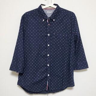 シマムラ(しまむら)の〈M〉しまむら 七分袖 ドット シャツ(シャツ)